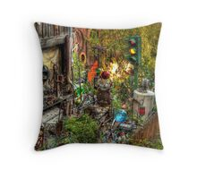 Backyard Accumulations Throw Pillow
