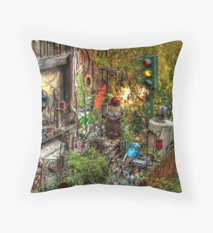 Backyard Accumulations Throw Pillow