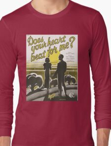 DOES YOUR HEART BEAT FOR ME? (vintage illuetration) Long Sleeve T-Shirt