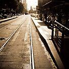 Morning Tram Stop by Andrew Wilson