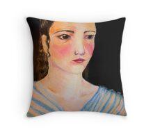 Pastel Woman Throw Pillow