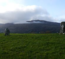 Drumlave Standing Stones by Michael Mitchell