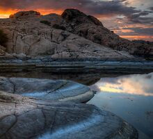 Granite and Sunset by Bob Larson