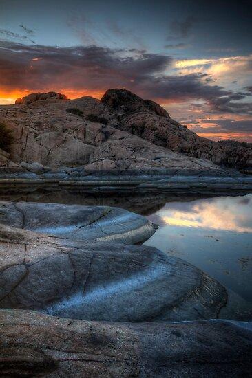 Granite and Sunset by Bob Larson