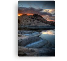 Granite and Sunset Canvas Print