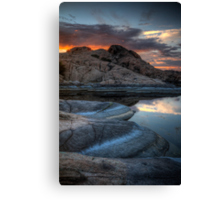 Granite and Sunset Canvas Print
