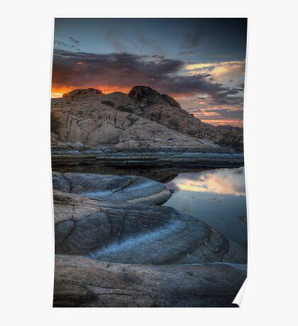 Granite and Sunset Poster