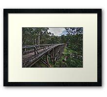 Trestle Bridge Framed Print