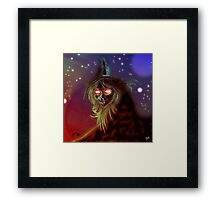 Witch Creature Digital Painting Framed Print