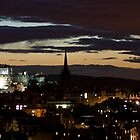 Edinburgh Night Skyline by Simon Kirwin