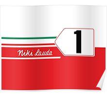 Formula 1's Niki Lauda Ferrari 312T2  Poster