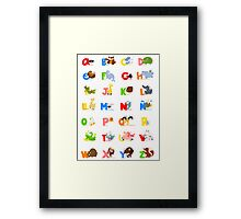 ABC (spanish) Framed Print