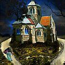 homage to van gogh's L'église d'Auvers-sur-Oise by carol brandt