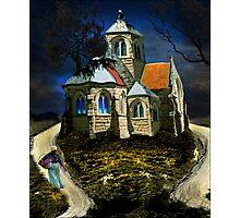 homage to van gogh's L'église d'Auvers-sur-Oise Photographic Print