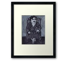 Seated Zombie Lady Framed Print