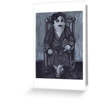 Seated Zombie Lady Greeting Card