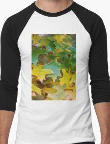 leaves on tree in autumn Men's Baseball ¾ T-Shirt
