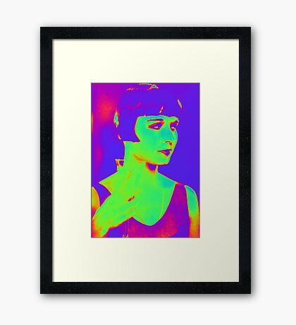 Louise Brooks pop art Framed Print