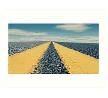 On the road to nowhere Art Print