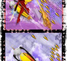 jetgirl rocketship squadron Sticker
