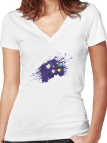 Smash Control  Women's Fitted V-Neck T-Shirt
