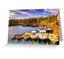 Crail Harbour (HDR Tilt Shift) Greeting Card