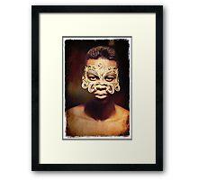 Golden Mask Framed Print