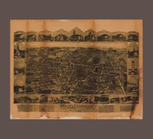 Panoramic Maps Middleborough Massachusetts One Piece - Short Sleeve