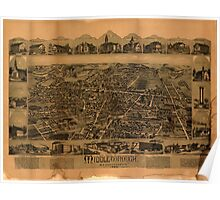 Panoramic Maps Middleborough Massachusetts Poster