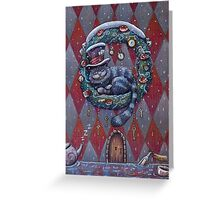 Alice Cheshire Cat Christmas Greeting Card