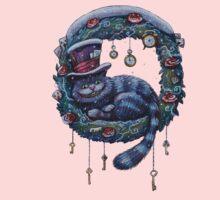 Alice Cheshire Cat Christmas Kids Tee