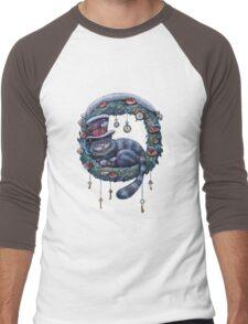 Alice Cheshire Cat Christmas Men's Baseball ¾ T-Shirt