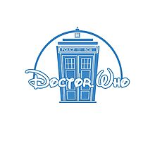 """Doctor Who"" Tardis Police Box Disney Logo Style Spoof Photographic Print"