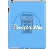 """Doctor Who"" Tardis Police Box Disney Logo Style Spoof iPad Case/Skin"