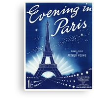 EVENING IN PARIS (vintage illustration) Canvas Print