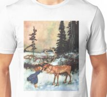 Reindeer Kiss christmas design Unisex T-Shirt