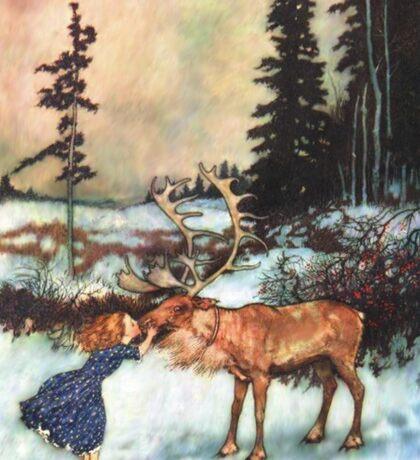 Reindeer Kiss christmas design Sticker