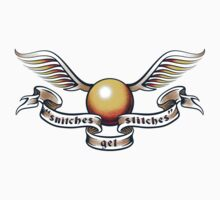 Snitches Get Stitches - Tattoo Version Kids Clothes