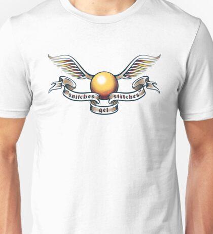Snitches Get Stitches - Tattoo Version Unisex T-Shirt