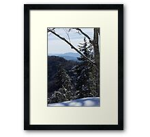 Snow on Newfound Gap Framed Print