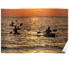 Kayaking at Sunset Palolem Poster