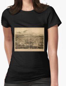 Panoramic Maps Bird's eye view of Philadelphia T-Shirt