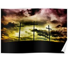 Scorched Sky Crucifixion Poster
