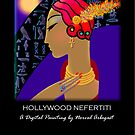'Hollywood Nefertiti' Night on the Nile, Titled Greeting Card by luvapples downunder/ Norval Arbogast
