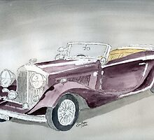 Bentley Drophead 1934 by Eva  Ason