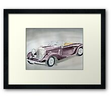 Bentley Drophead 1934 Framed Print