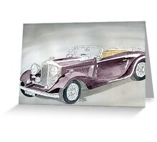 Bentley Drophead 1934 Greeting Card