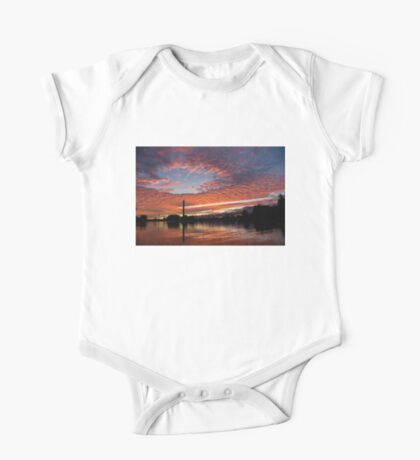 Vivid Skyscape - Summer Sunset at Toronto Beaches Marina One Piece - Short Sleeve