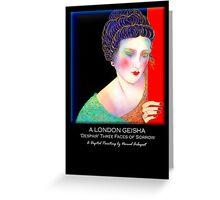 A London Geisha 'Despair' Three Faces Of Sorrow, Titled Greeting Card Greeting Card