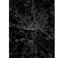 Hamburg map germany Photographic Print